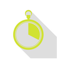 The 20 seconds minutes stopwatch sign pear icon vector