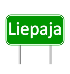Liepaja road sign vector
