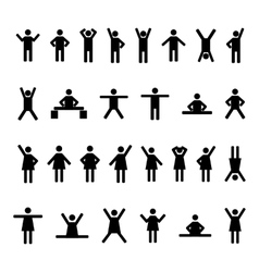 A set of stick figures vector