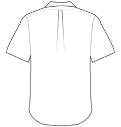 Back shirt vector
