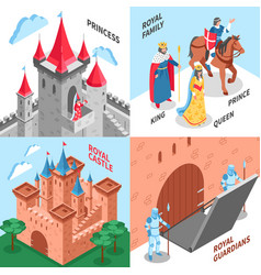 Royal castle design concept vector