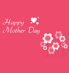 Happy mother day with flower collection vector