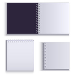 Clean empty paper notepad for notes vector