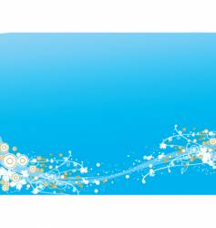 Blue abstract design vector