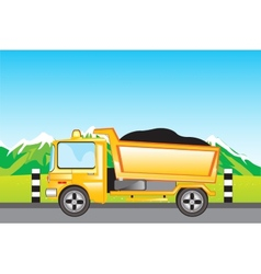Cargo car on road vector