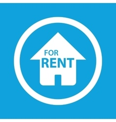 House for rent sign icon vector
