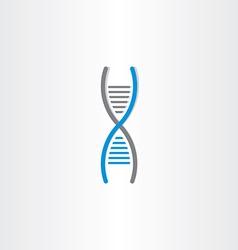 Dna symbol deoxyribonucleic acid icon vector
