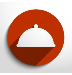 Restaurant cloche web icon vector