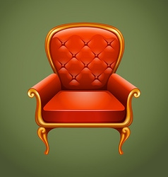 Luxury armchair on gray vector