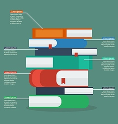 Stack of books infographic vector