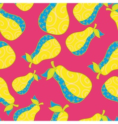 Cute fruits seamless background vector