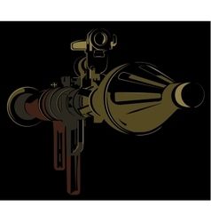 Anti-tank bazooka color rpg on black background vector
