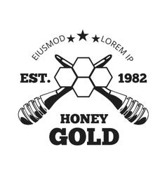 Beekeeper honey label badge emblem in vector image vector image