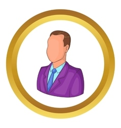 Businessman or manager icon vector