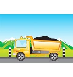 Cargo car on road vector image