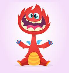 cartoon dragon monster vector image