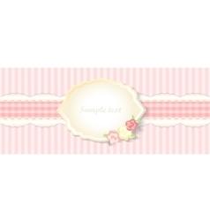 classic romantic invitation design pink vector image vector image