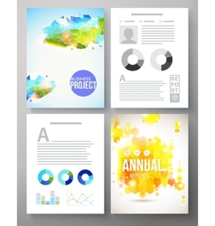 Colorful creative template for a company project vector