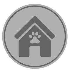 Doghouse silver coin vector