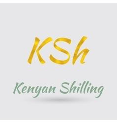 Golden Symbol of Kenyan shilling vector image vector image