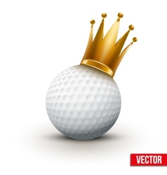 Golf ball with royal queen crown vector image