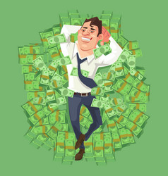 happy smiling rich businessman character vector image