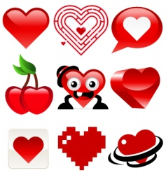 heart designs vector image