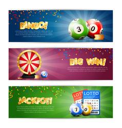 Lottery jackpot banners set vector
