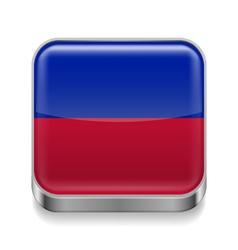 Metal icon of haiti vector