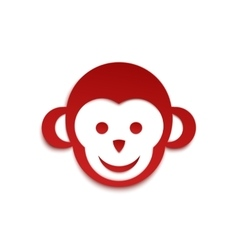 Monkey icon simple logo design vector