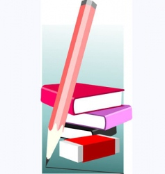 pencil and book vector image vector image