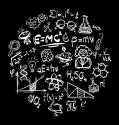 Science icon on black vector