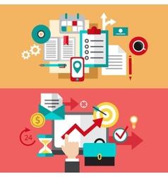 Set of modern flat design business vector image