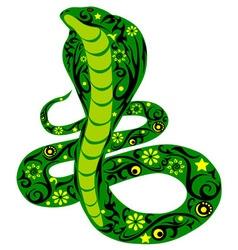 snake green vector image