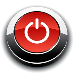 Switch 3d round button vector
