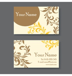 Yellow business card vector