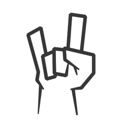 Hand gesture icon rock music design vector