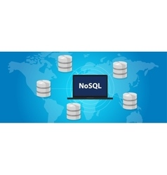 Nosql non relational database concept world wide vector