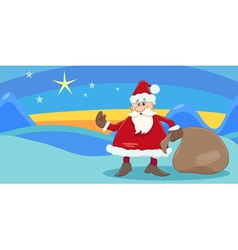 Greeting card with santa vector