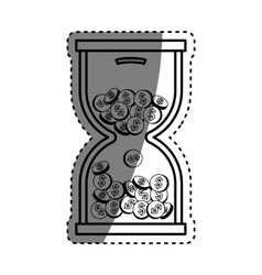 Coins in time hourglass vector