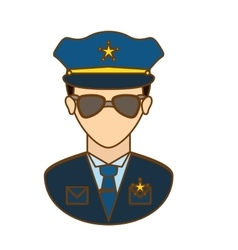 police officer icon image design vector image