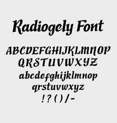 Radiogely alphabet uppercase character vector