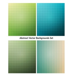 Abstract backgrounds collection flowing blend vector