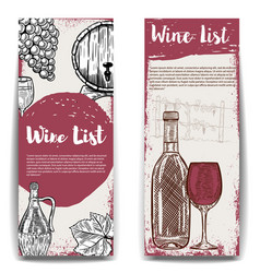 Wine list banner templates design elements for vector