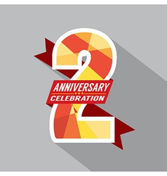 2th Years Anniversary Celebration Design vector image vector image