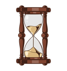 Antique sand hourglass vector