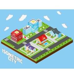 Isometric city set vector