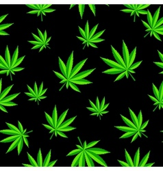 Abstract cannabis seamless pattern background vector