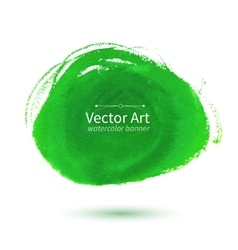 Watercolor green stain vector