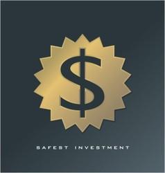 Cash symbol finance logo  currency symbol vector image